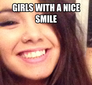 girls with a nice smile