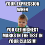 Your expression when